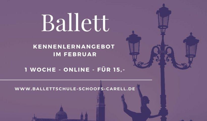 Flyer für Ballettunterricht